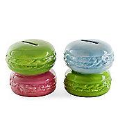Set of Two French Macaron Savings Bank Money Boxes