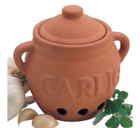 Terracotta Garlic Keeper