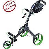 Big Max Mens IQ+ 3 Wheel Golf Trolley in Black & Lime 2014 Model