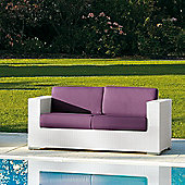 Varaschin Cora 2 Seater Sofa by Varaschin R and D - White - Panama Azzurro