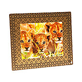 Addison Ross 3D Acrylic Photo Frame 3D Gold Rings Frame - 4 in x 6 in