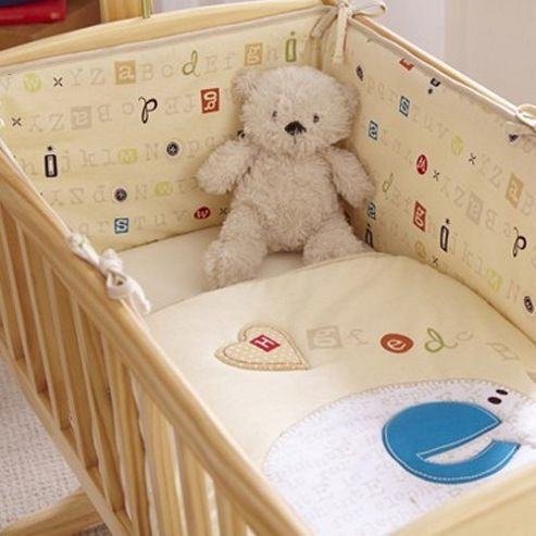 Clair de Lune ABC 2 Piece Crib Bedding Set