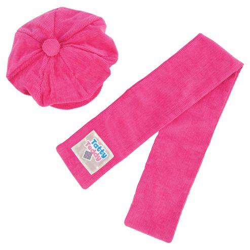 Tatty Teddy & my Blue Nose Friends Tatty Dress Up Pink Cord Hat 'n' Scarf