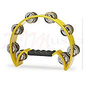 Stagg Yellow Cutaway Plastic Tambourine - 16 Jingles