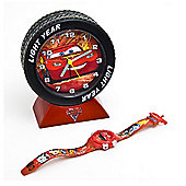 Disney Pixar Cars Clock and Watch Set