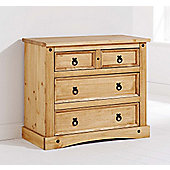 Valufurniture Monterrey Chest of Drawers 2 Over 2 - Waxed Pine