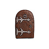 Brown Garden Fairy Door Ornament In Resin - Small