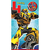 Transformers 4th Birthday Card