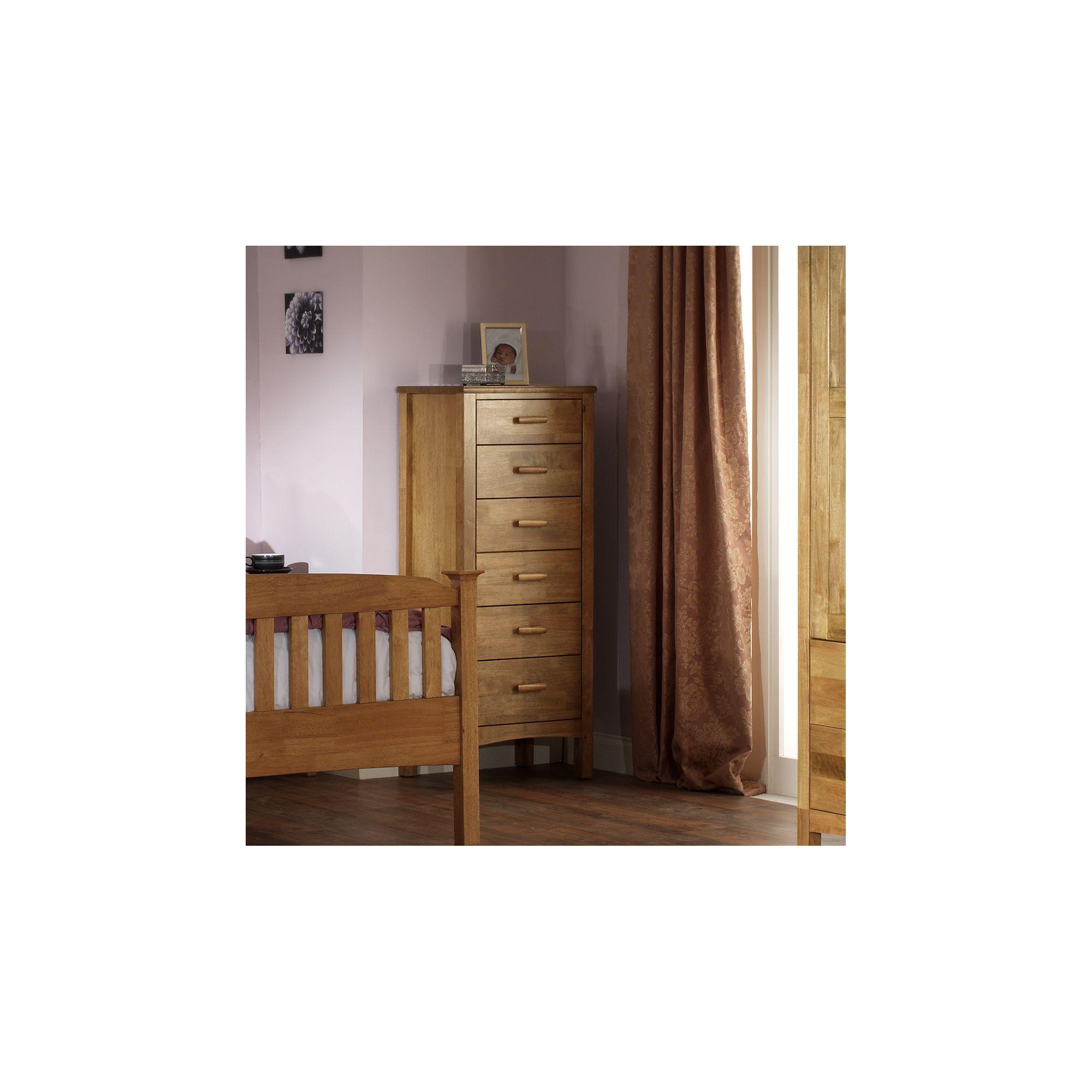 Serene Furnishings Eleanor 6 Drawer Wellington Tallboy Chest - Honey Oak at Tescos Direct