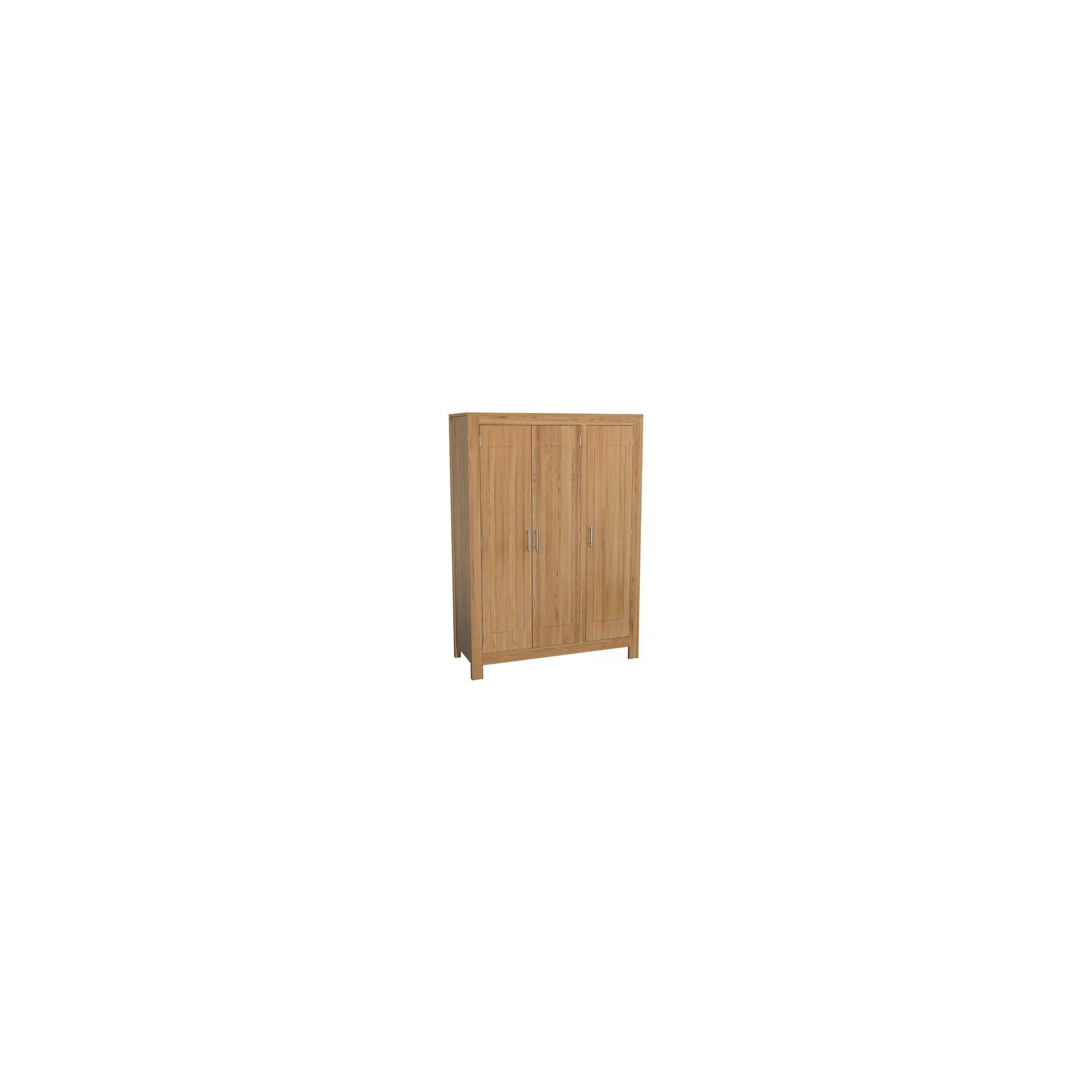 Kelburn Furniture Milano Triple Wardrobe in Clear Satin Lacquer at Tescos Direct