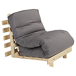 Helsinki Pine Single Futon With Mattress Charcoal