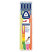 Staedtler Tri Plus Neon Fibretip 4 Pack