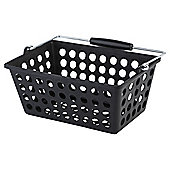 Tesco Basic Plastic Storage, Black