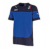 2014-15 Italy Puma Leisure T-Shirt (Blue) - Kids - Blue