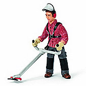 Schleich Worker With Brush Cutter 13458