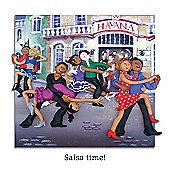 Holy Mackerel Salsa Time Greetings Card