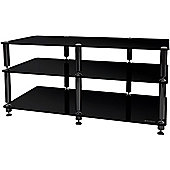 Black Three Shelf AV Unit for up to 50 inch Screens