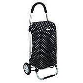 Coolmovers Black Polka Dot Foldable Shopping Trolley
