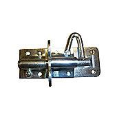 "Ironmongery - 4"" Pad Bolt plus screws"