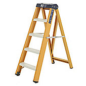 Heavy Duty 4 Tread All GRP Fibreglass Swingback Step Ladder