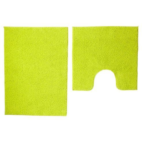 buy tesco basic bath mat set lime from our bath mats. Black Bedroom Furniture Sets. Home Design Ideas