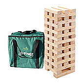 Super Giant Hi-Tower in a storage bag - Giant 0.9m -1.5m (max) Wooden Tumble Tower Giant Jenga style Garden Game