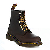 Dr. Martens 1460 Crazy Horse Unisex Aztec BrownLeather Ankle Boots - Brown