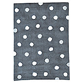 Lorena Canals Topos Tricolor Grey Elephant Children's Rug - 120 cm W x 160 cm D (3 ft 11 in x 5 ft 3 in)