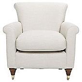 Pemberley Armchair Linen Effect Ecru