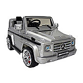 Kids Electric Car Mercedes Benz G55 12 Volt Silver Gloss