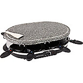 Andrew James 8 Person Rustic Stone Raclette 1200W with 8 Spatulas
