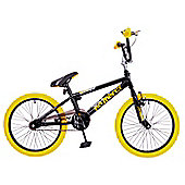 "Rooster No Mercy 20"" Freestyle Gyro BMX Black/Yellow"