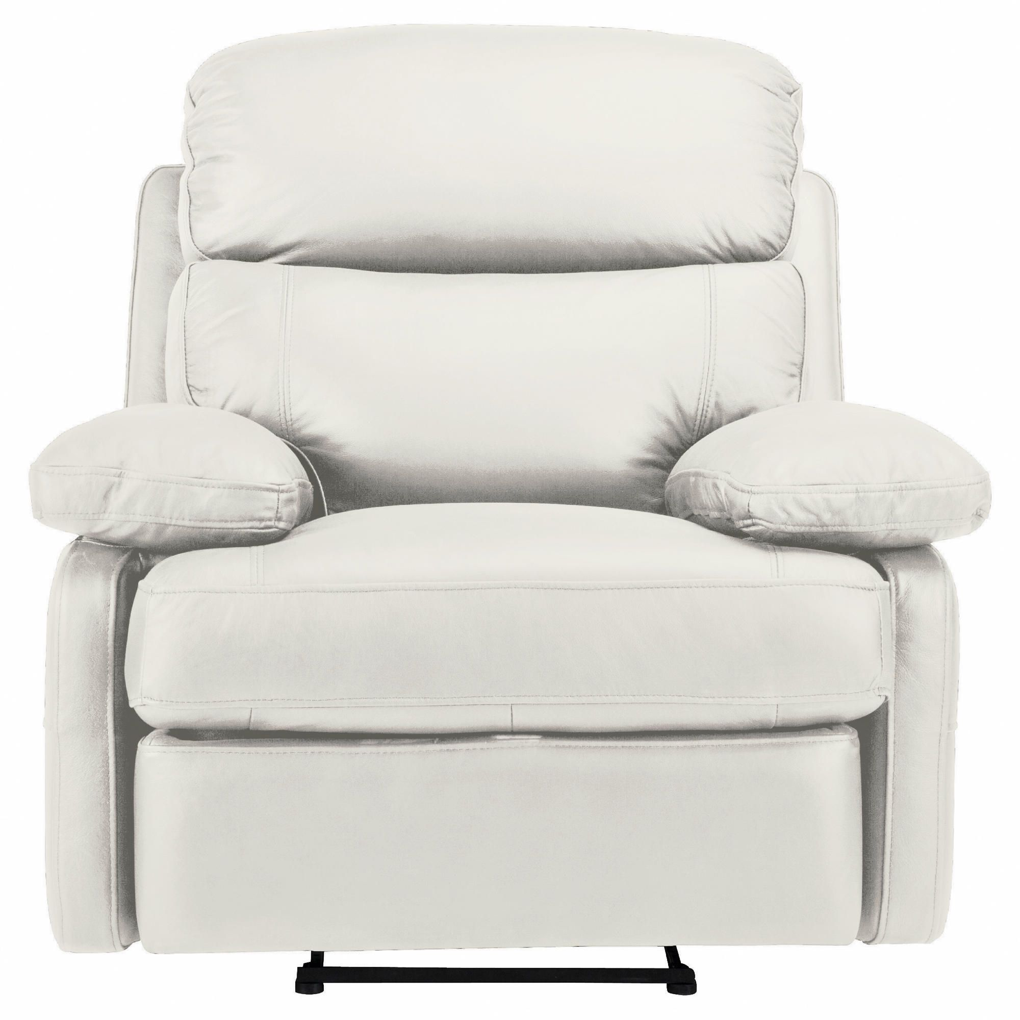 Cordova Leather Recliner Chair Ivory at Tesco Direct