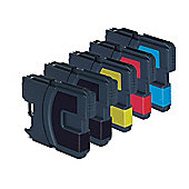 5 Compatible Ink Cartridges for Brother DCP 195C - Cyan / Magenta / Yellow / Black (Capacity: 122.5 ml)