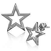Urban Male Stainless Steel 10mm Hollow Star Men's Stud Earrings