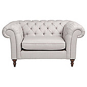 Chesterfield Love seat - Silver