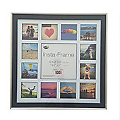 Inov8 Charcoal Silver Instagram Photo Frame for 13 Instagram Photos with White Mount and Black Inset