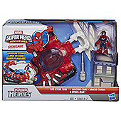 Playskool Heroes Web Strike Tank with Spider-Man Figure