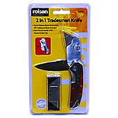 Rolson 2-in-1 Tradesman Knife