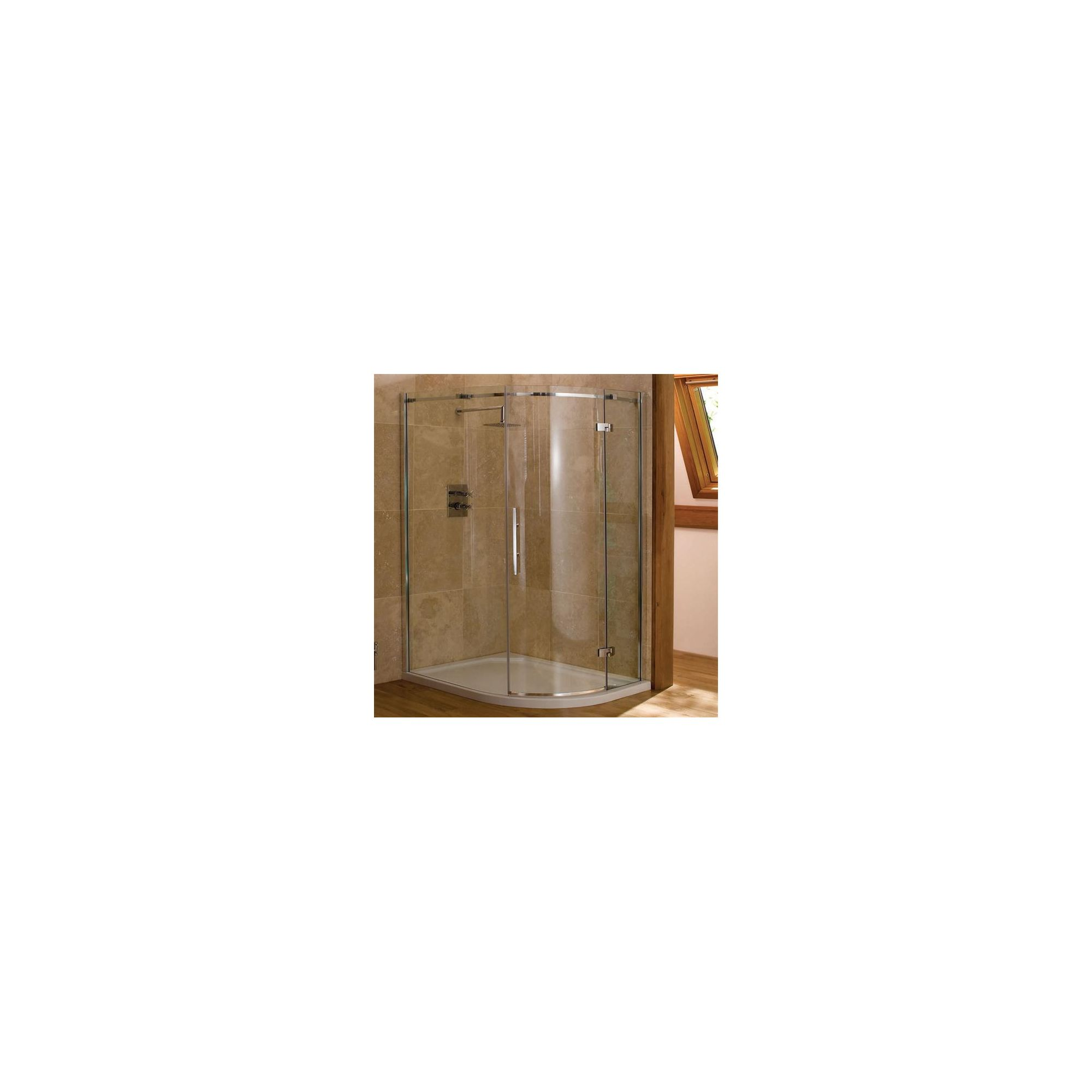 Merlyn Vivid Nine Offset Quadrant Shower Enclosure, 1200mm x 900mm, Left Handed, Low Profile Tray, 8mm Glass at Tesco Direct
