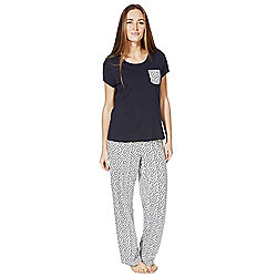 F&F Fish Print Pyjamas 16 - 18 Blue