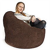 Lounge Pug™ Mini Mammoth Cord Bean Bag - Mocha