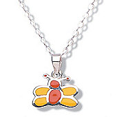 Jo For Girls Yellow and Orange Butterfly Pendant