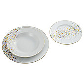 Tesco Christmas All That Glitters 12 Piece, 4 Person Dinner Set