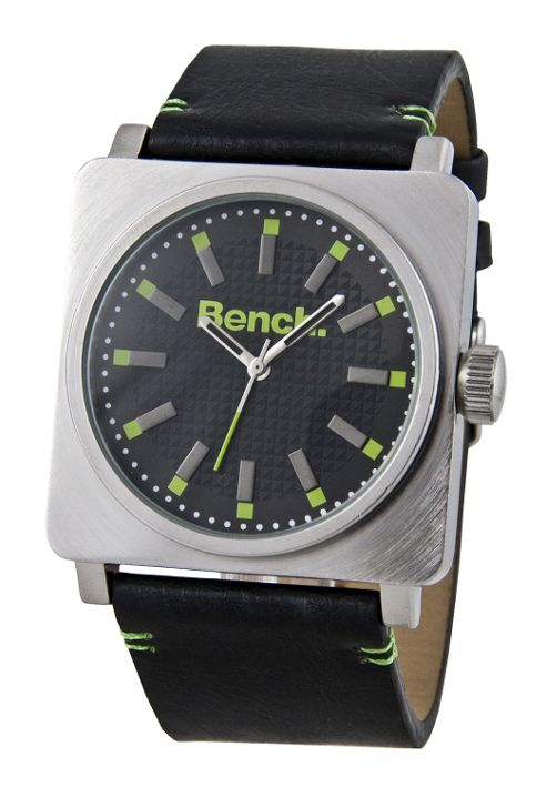 Bench Gents Square Strap Watch BC0301BKBK