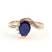 QP Jewellers Diamond & Sapphire Belle Diamond Ring in 14K Rose Gold