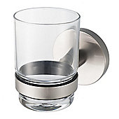 Haceka Pro 2500 Glass Holder in Brushed Silver