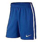 2014-15 Brazil Nike Home Shorts (Blue) - Blue