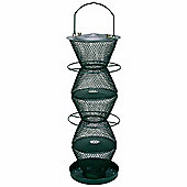 No/No Forest Green Five Tier Wild Bird Feeder with Tray