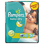 Pampers Baby Dry Size 5 Monthly Pack - 144 Nappies